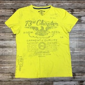 Epic Threads Yellow Graphic T-Shirt Large